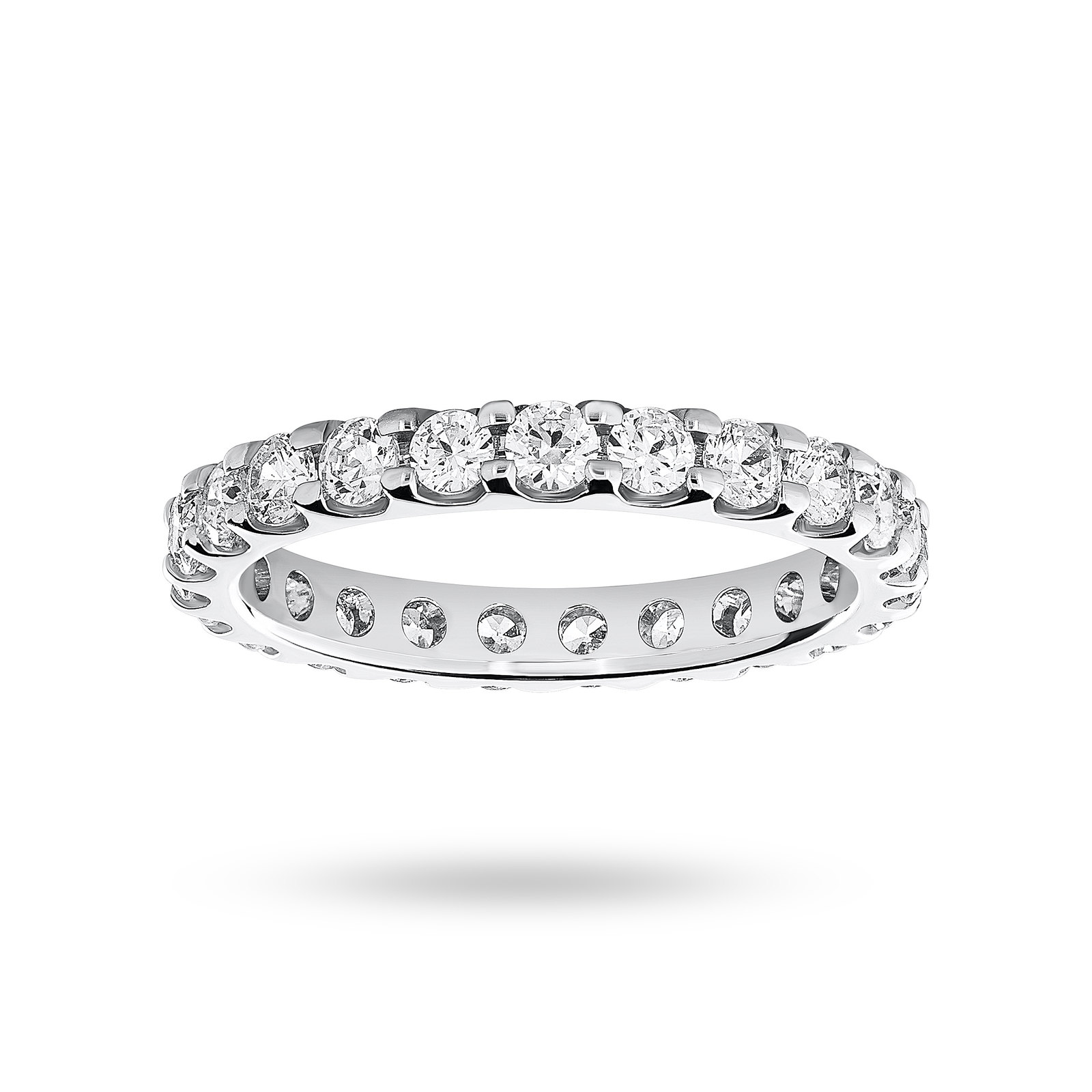 18 Carat White Gold 1.50 Carat Brilliant Cut Claw Set Full Eternity Ring