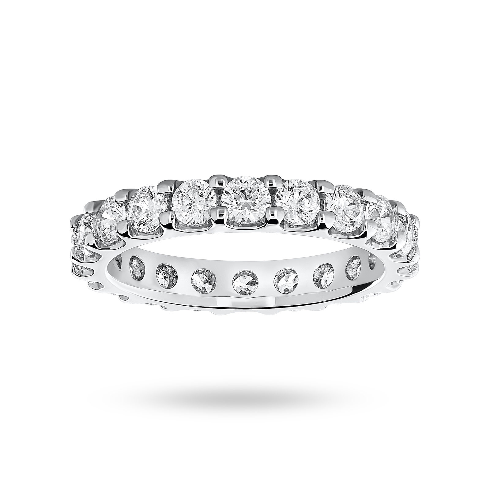 18 Carat White Gold 2.00 Carat Brilliant Cut Claw Set Full Eternity Ring