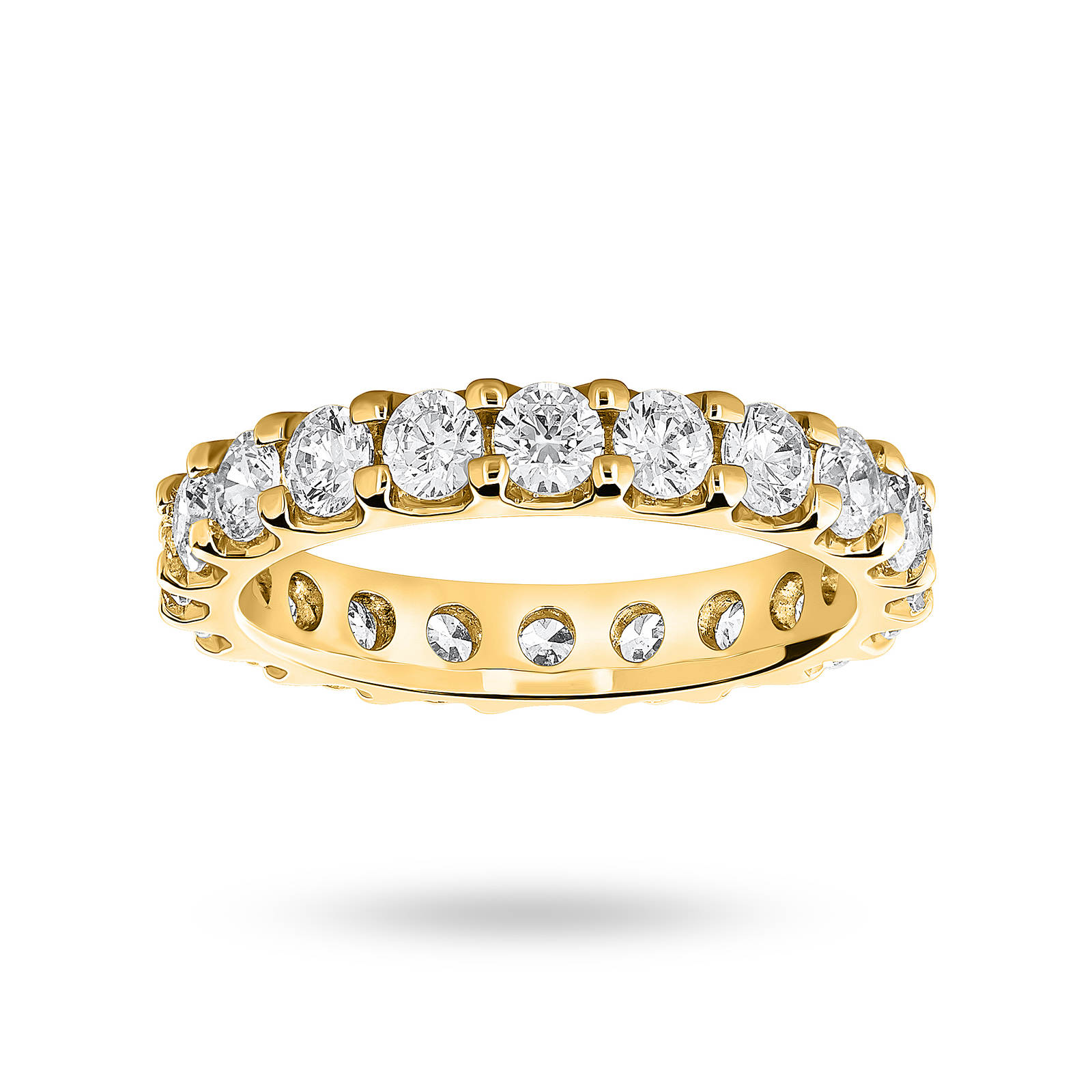 18 Carat Yellow Gold 2.00 Carat Brilliant Cut Claw Set Full Eternity Ring