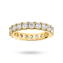 18ct Yellow Gold 2.00cttw Diamond Full Eternity Ring
