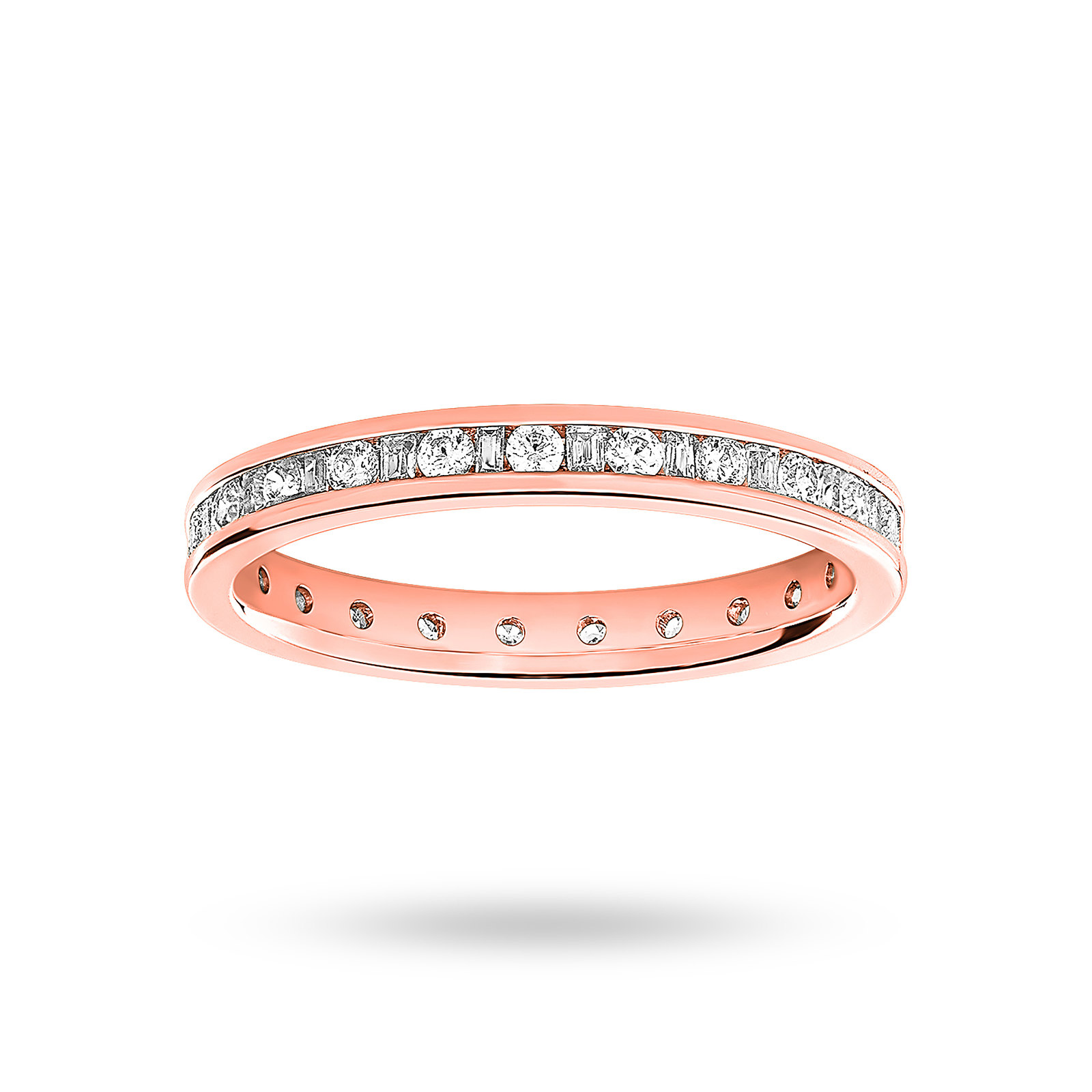 18 Carat Rose Gold 0.50 Carat  Dot Dash Channel Set Full Eternity Ring