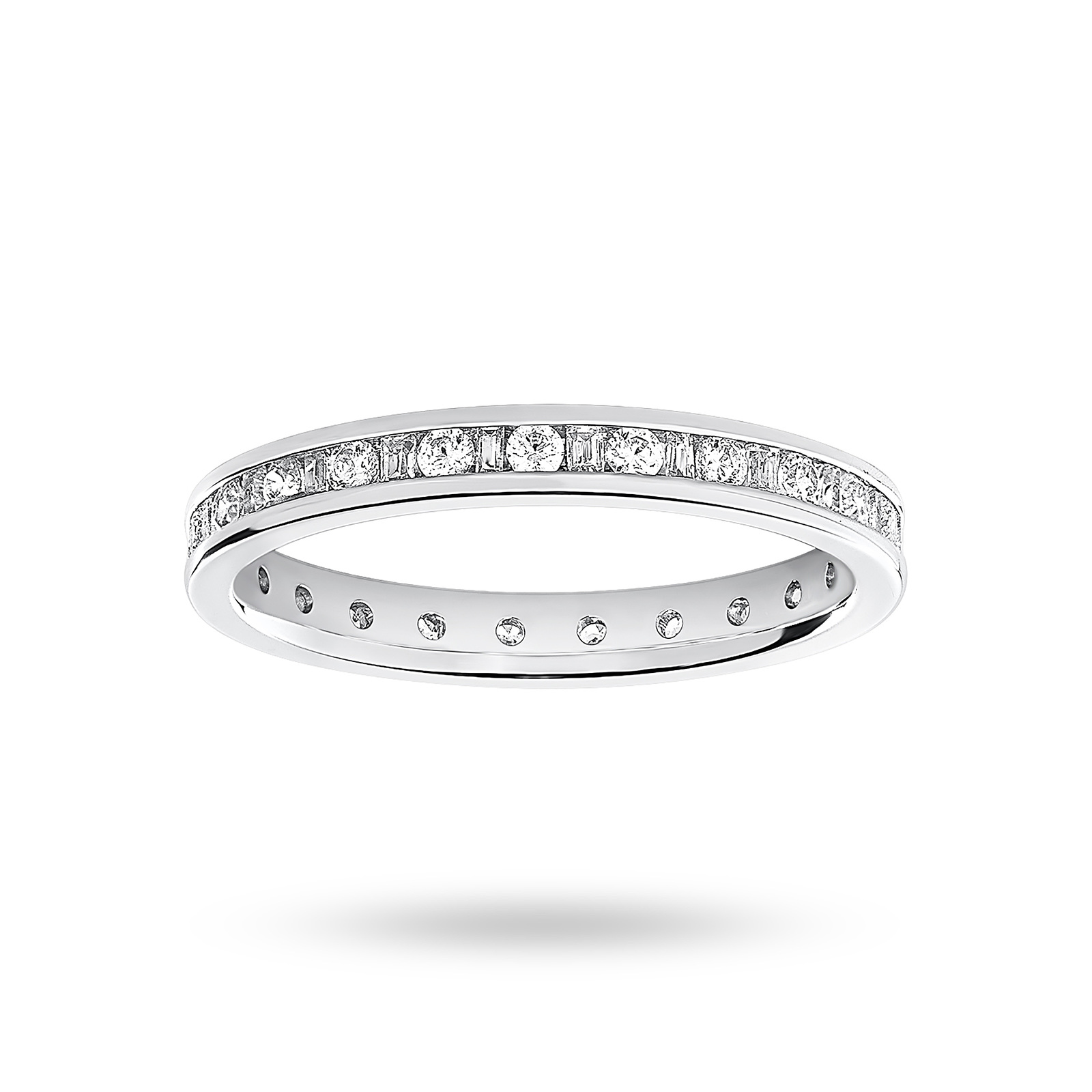 9 Carat White Gold 0.50 Carat  Dot Dash Channel Set Full Eternity Ring