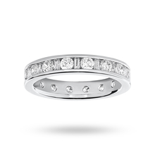 Platinum 1.50cttw Diamond Full Eternity Ring