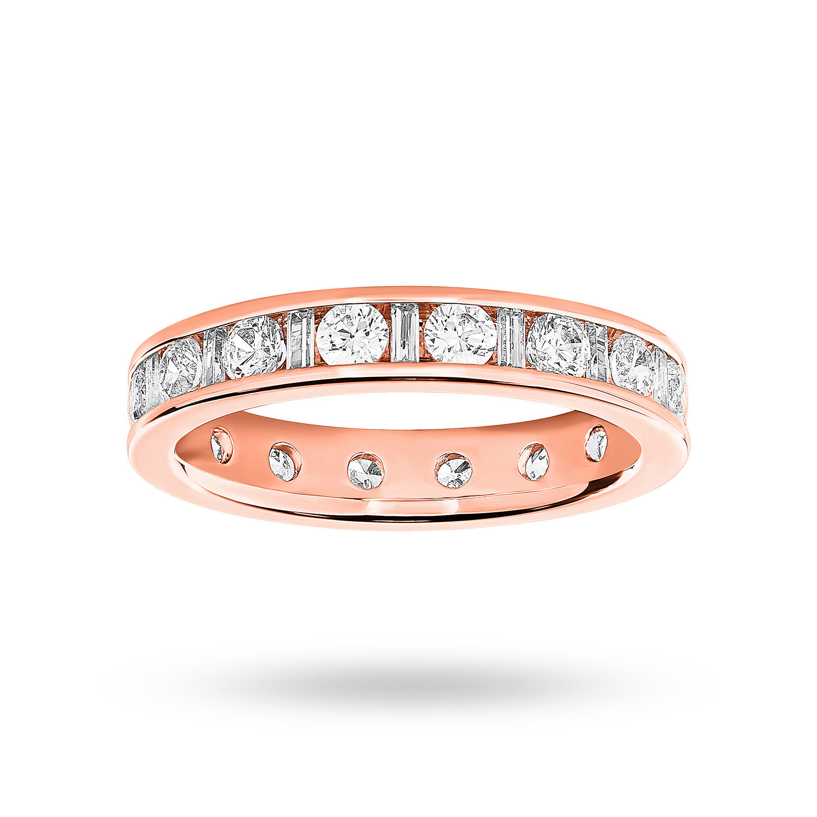 18 Carat Rose Gold 1.50 Carat  Dot Dash Channel Set Full Eternity Ring