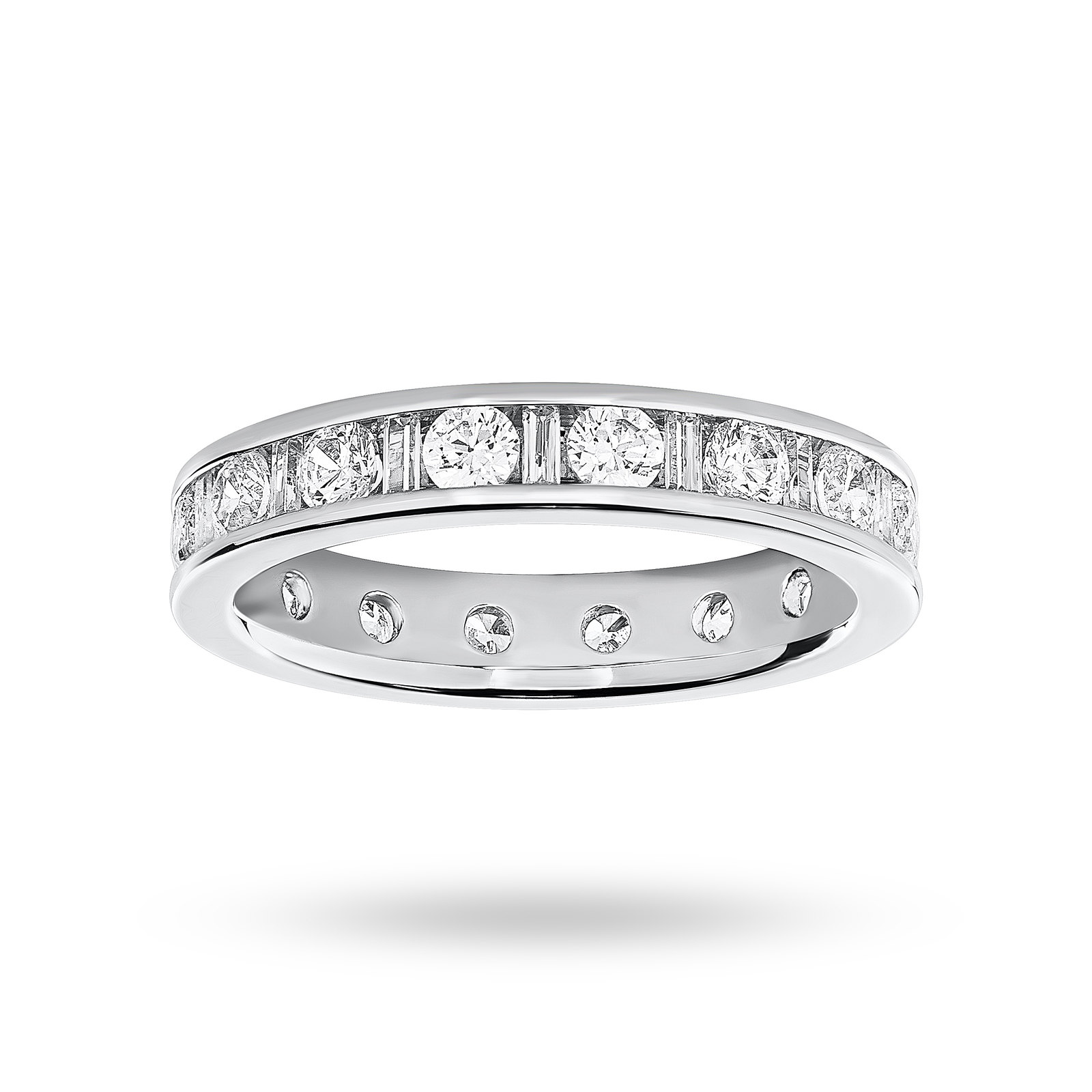 9 Carat White Gold 1.50 Carat  Dot Dash Channel Set Full Eternity Ring