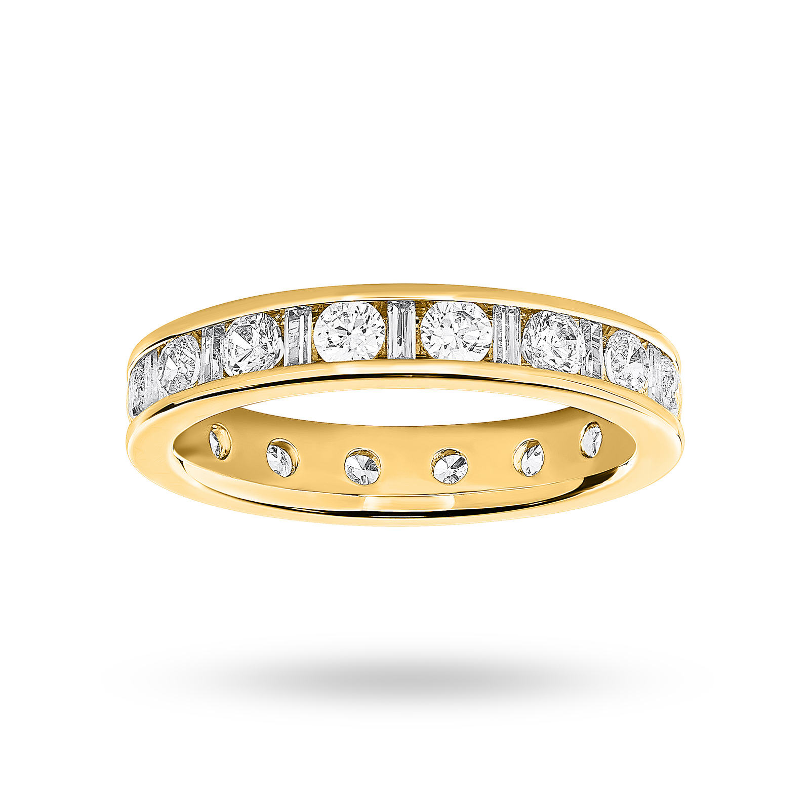 9 Carat Yellow Gold 1.50 Carat  Dot Dash Channel Set Full Eternity Ring