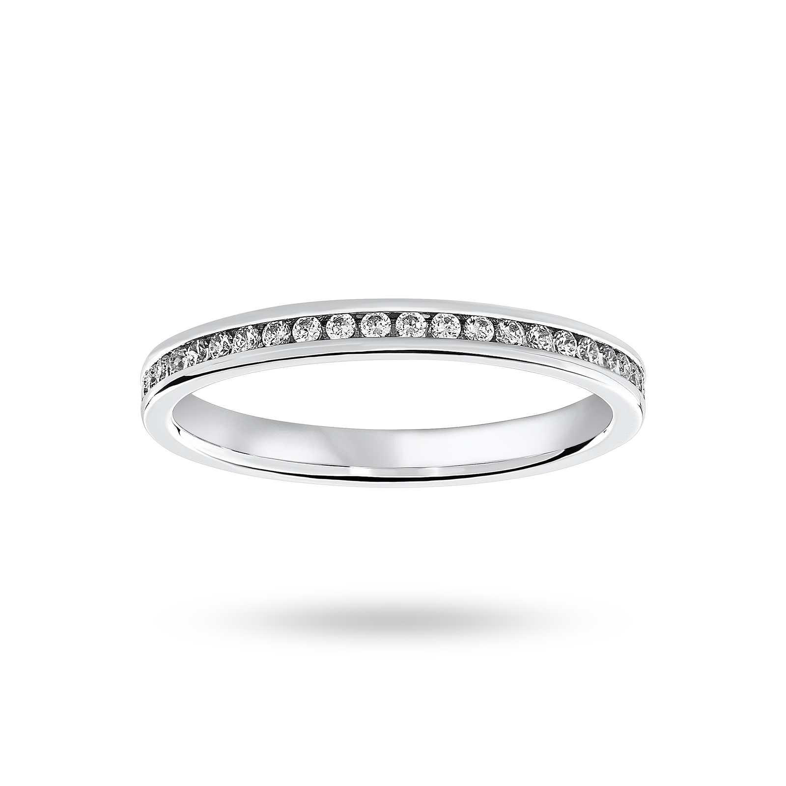 Platinum 0.33 Carat Brilliant Cut Channel Set Full Eternity Ring