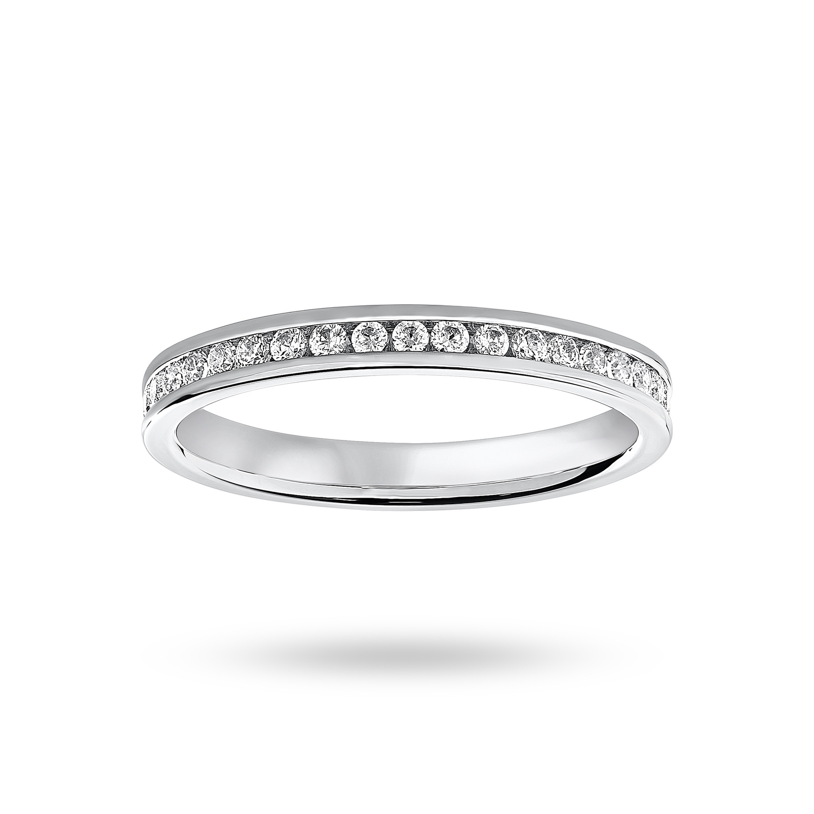 Platinum 0.50 Carat Brilliant Cut Channel Set Full Eternity Ring
