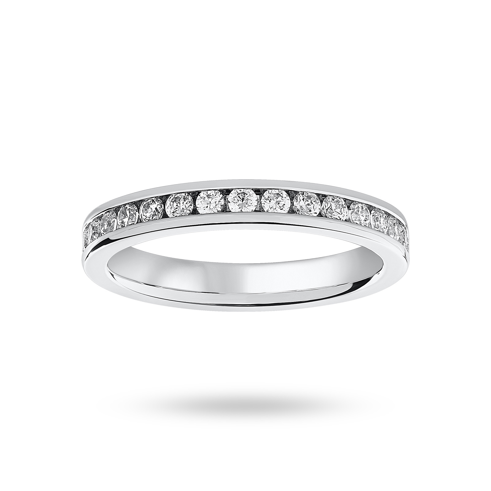 Platinum 0.75cttw Diamond Full Eternity Ring