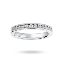 18 Carat White Gold 0.50 Carat Brilliant Cut Channel Set Full Eternity Ring