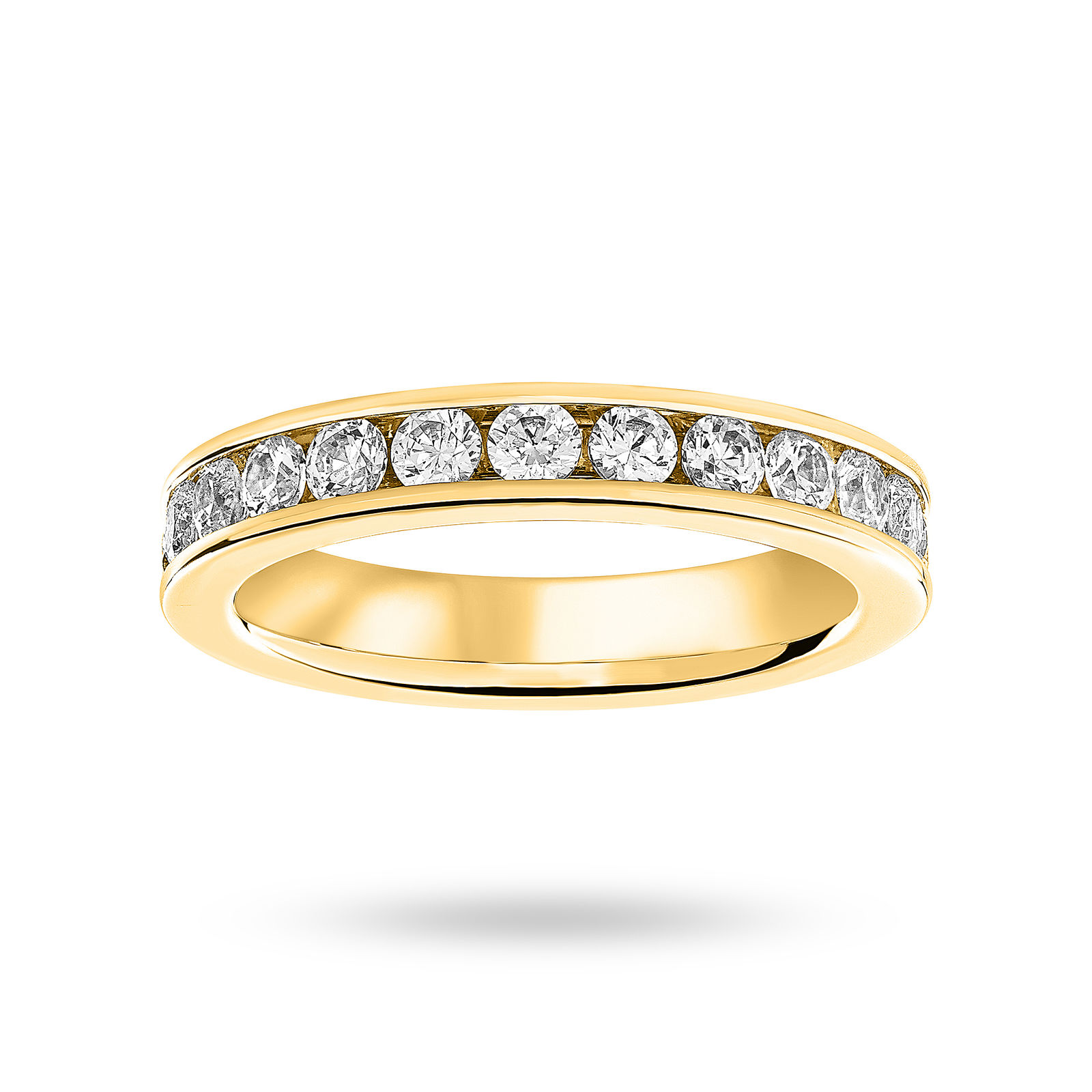 18 Carat Yellow Gold 0.27 Carat Brilliant Cut Channel Set Half Eternity Ring