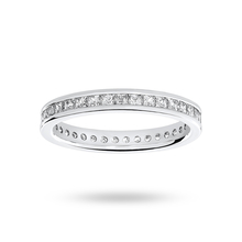 9ct White Gold 1.00cttw Diamond Full Eternity Ring