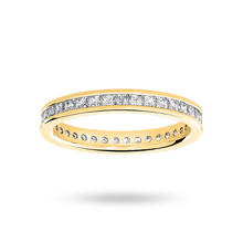 9ct Yellow Gold 1.00cttw Diamond Full Eternity Ring