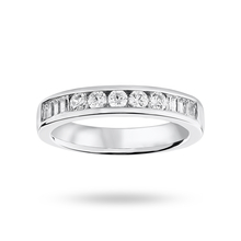 9ct White Gold 0.50cttw Diamond Half Eternity Ring