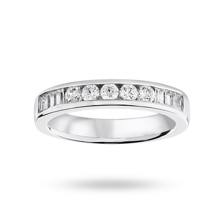For Her - 9ct White Gold 0.50cttw Diamond Half Eternity Ring - M06503588