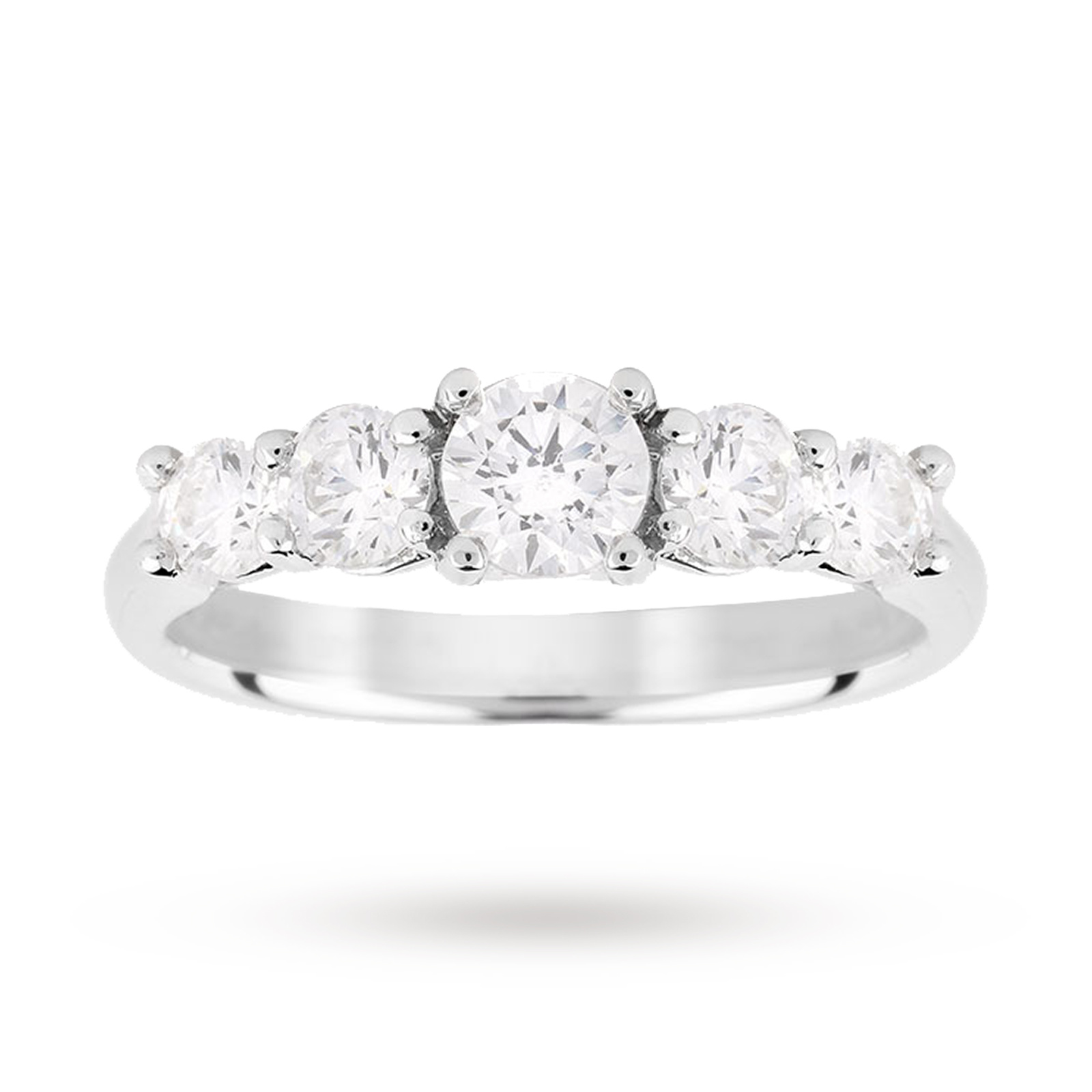 Platinum 1.00ct Diamond 7 Stone Eternity D Colour Ring