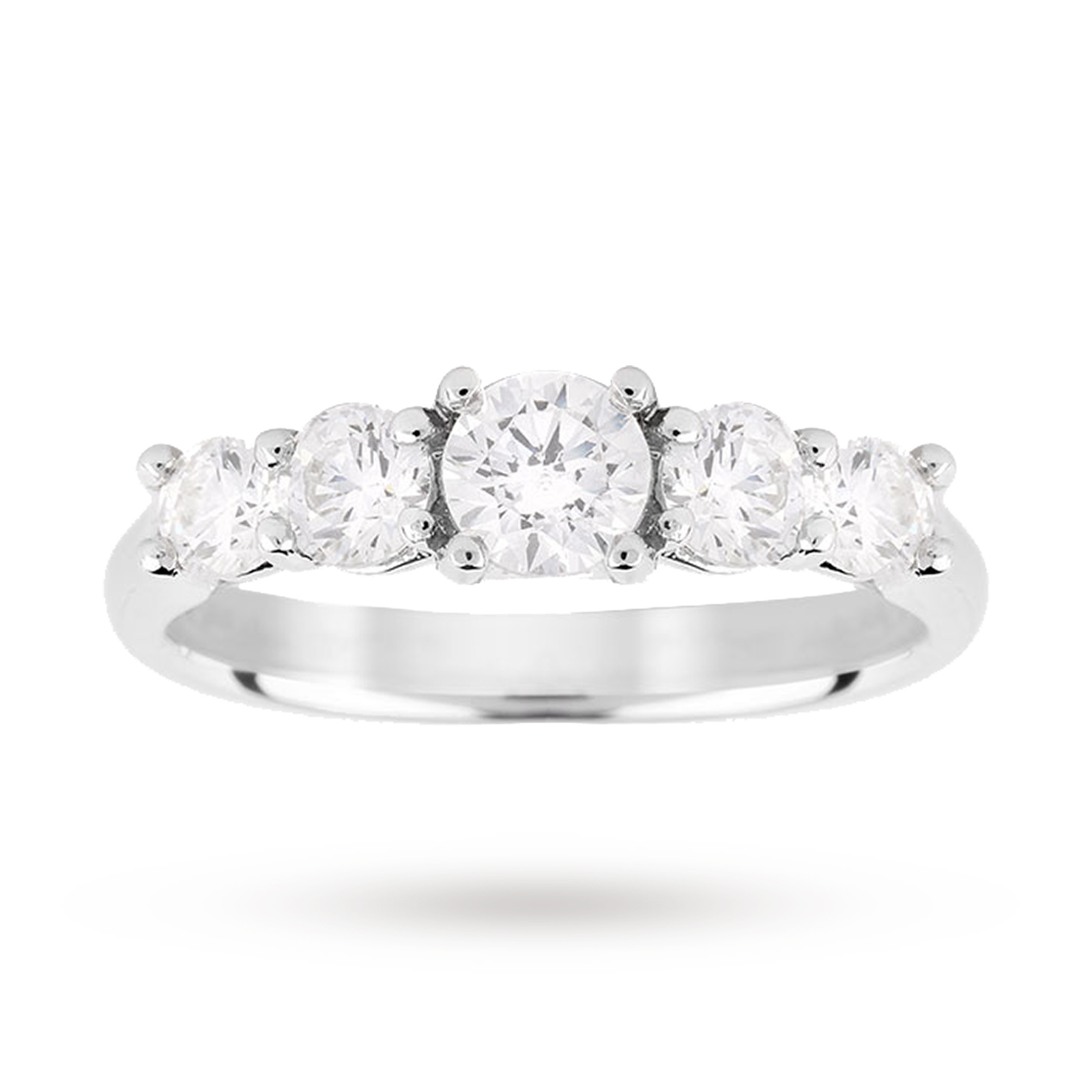 Platinum 1.50ct Diamond 7 Stone Eternity D Colour Ring