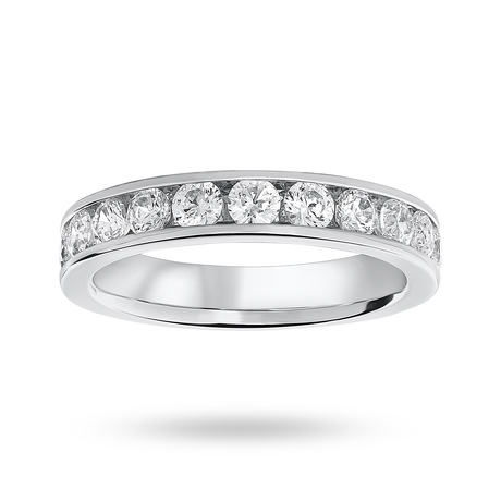 Platinum 1.00 Carat Brilliant Cut Half Eternity Ring