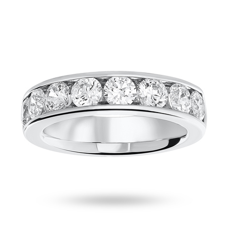 Platinum 1.85 Carat Brilliant Cut Half Eternity Ring