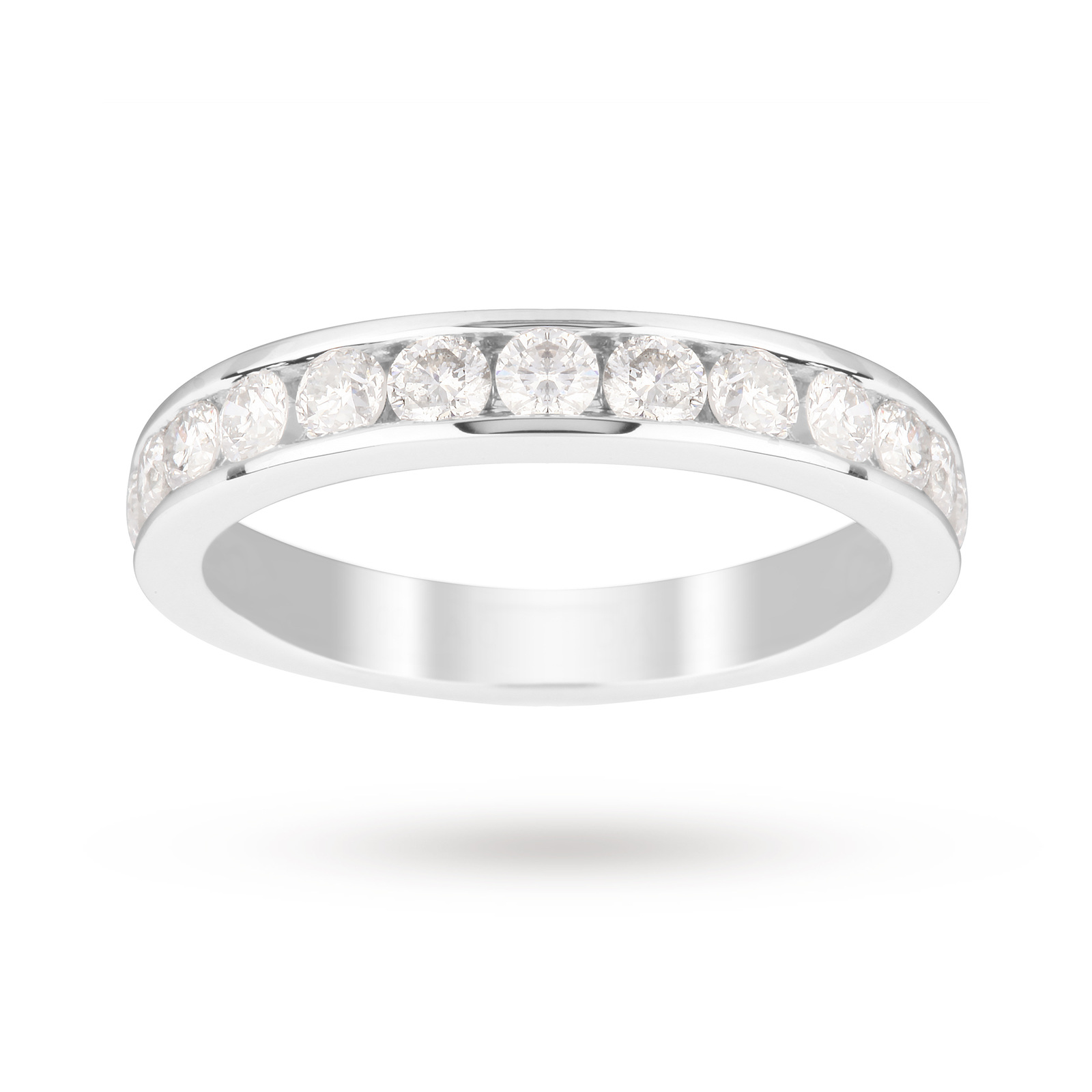 18ct White Gold 1.00 Carat Eternity Ring - Ring Size F