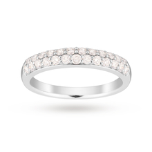 9ct White Gold 0.50 Carat Total Weight Eternity Ring