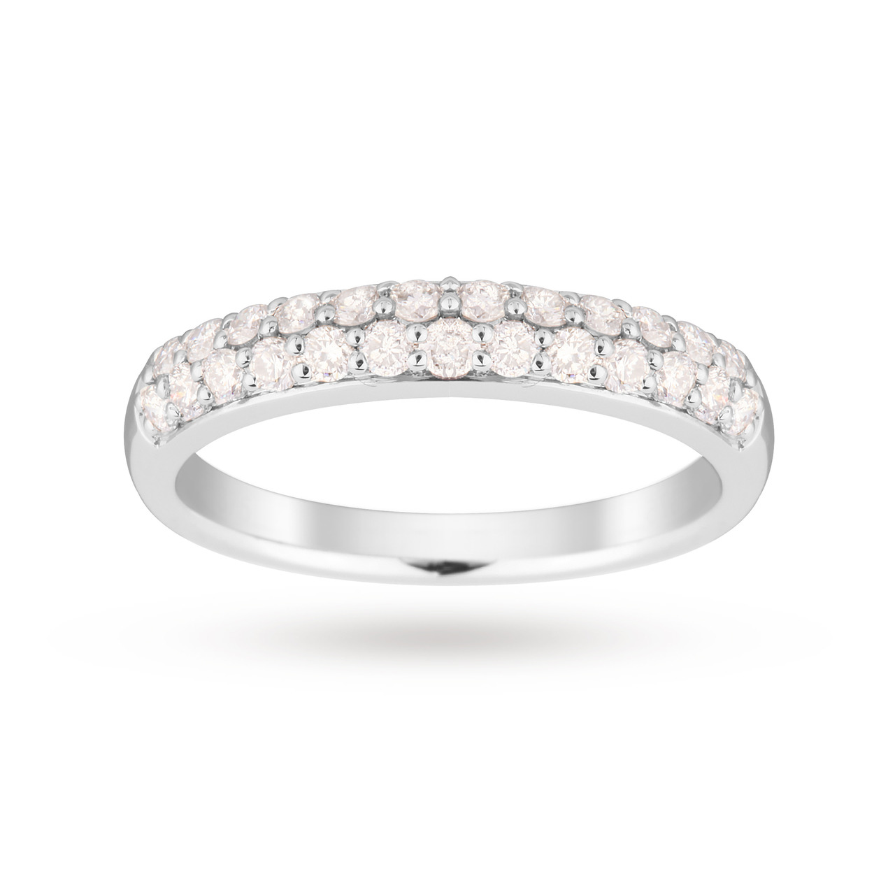 9ct White Gold 0.50 Total Weight Eternity Ring - Ring Size M