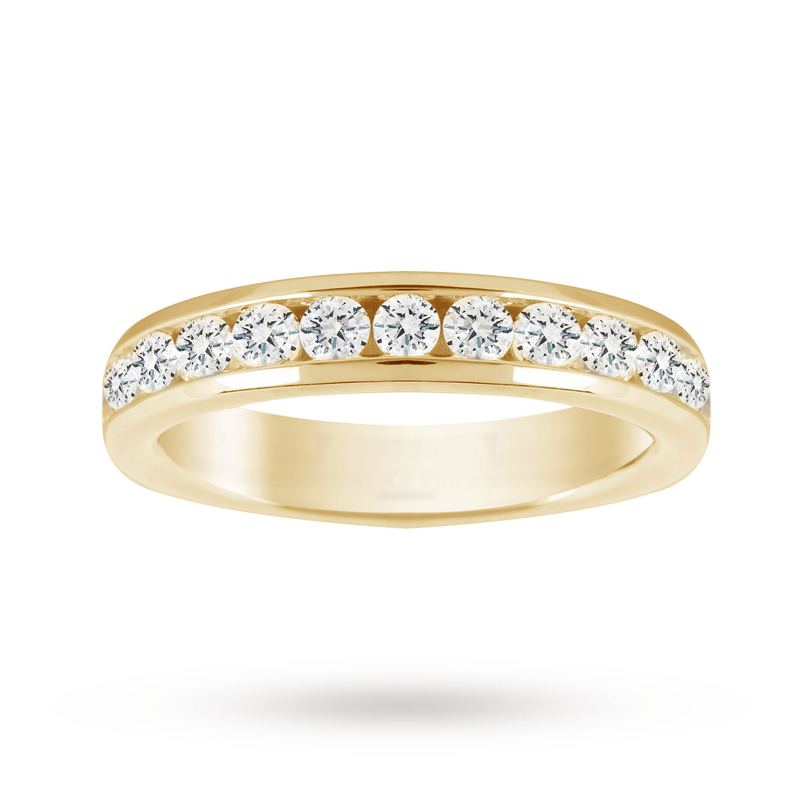 18ct Yellow Gold 1.00cttw Diamond Half Eternity Ring