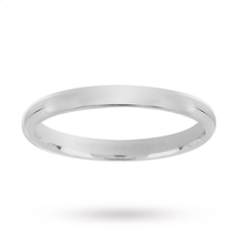 2mm Plain Wedding Band in 9 Carat White Gold