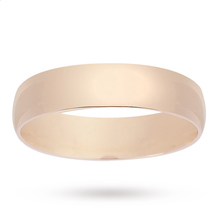 5mm Plain Wedding Band in 9 Carat Yellow Gold