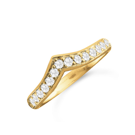 18ct Yellow Gold 0.30cttw Diamond Shaped Wedding Ring