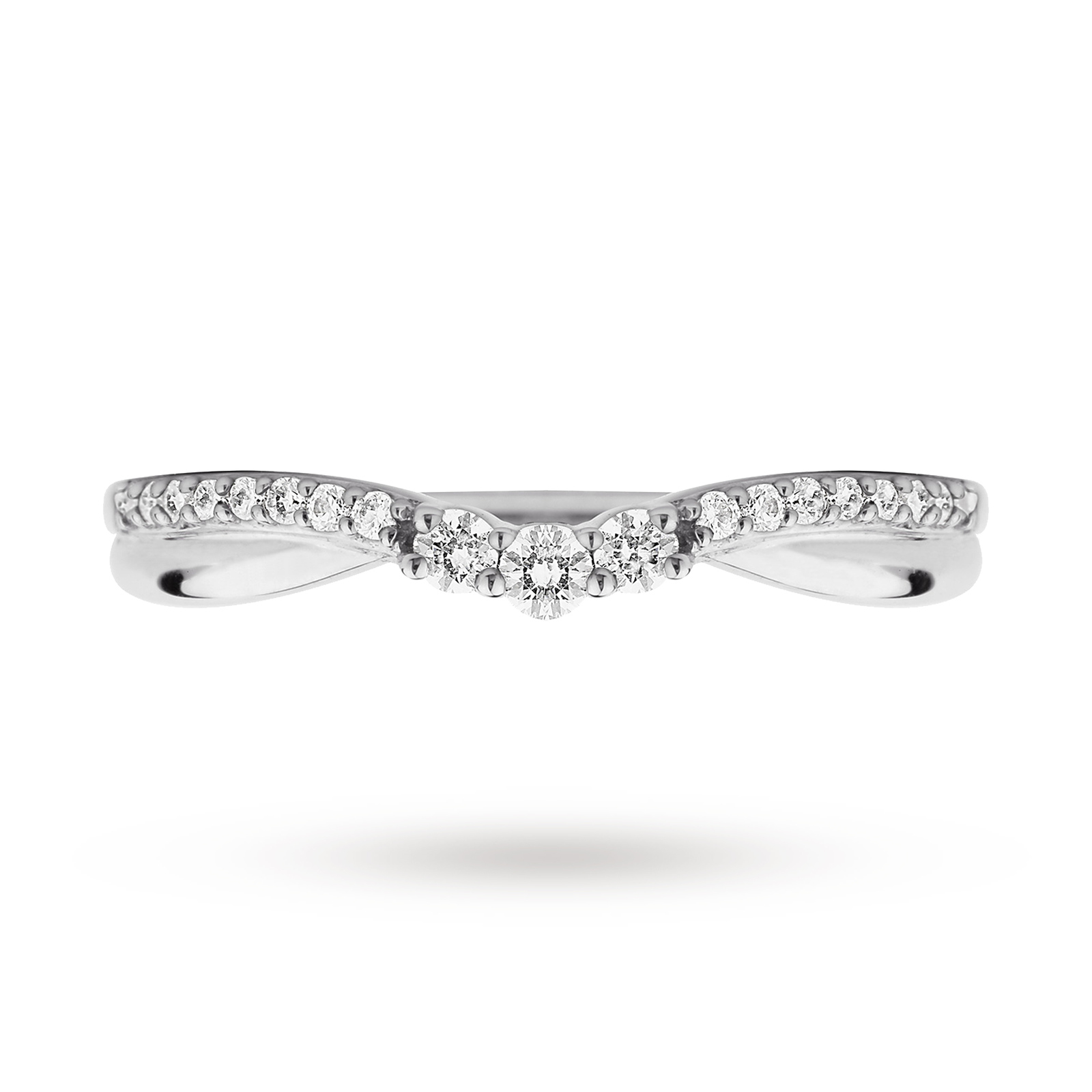 9ct White Gold 0.25ct Diamond Wedding Band