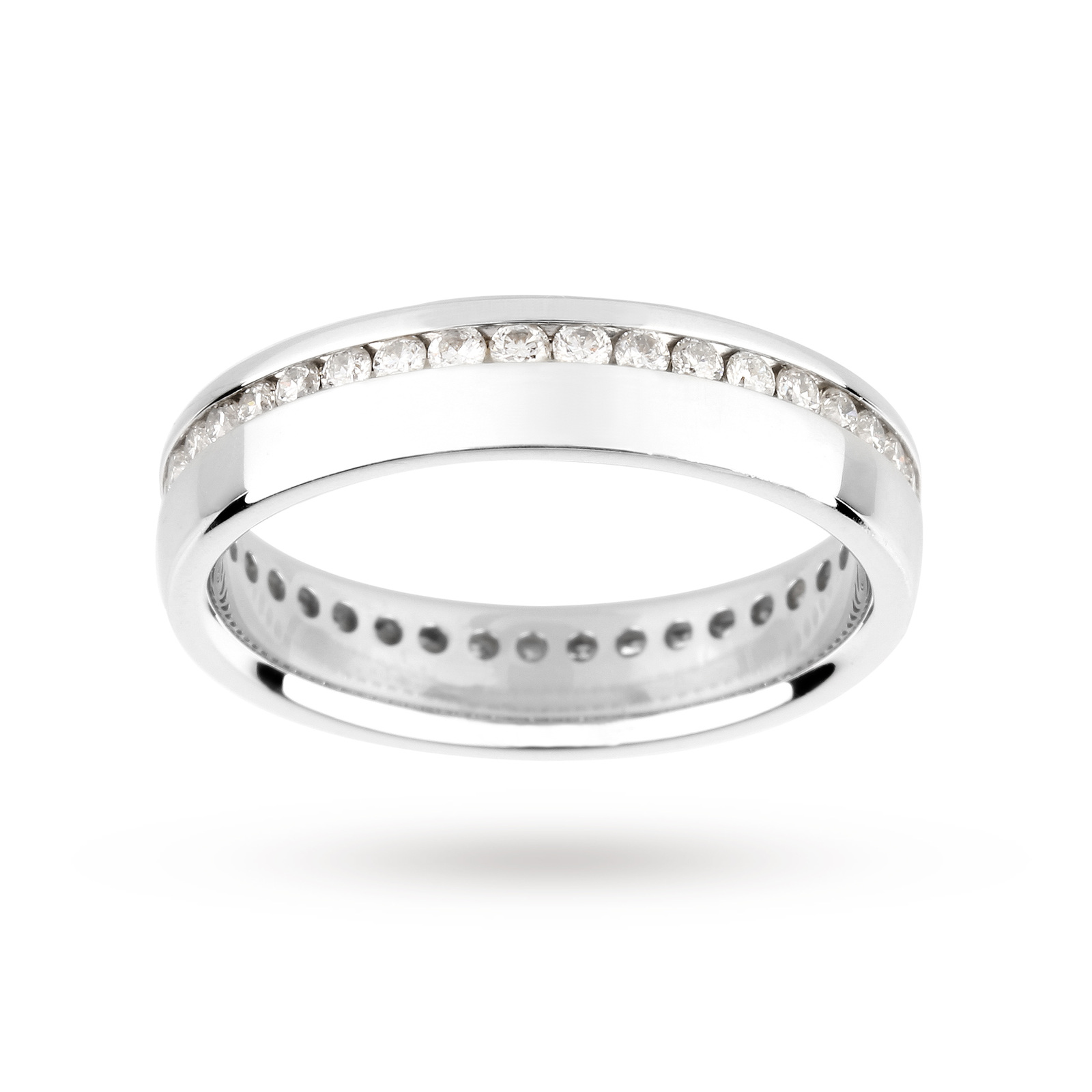 Platinum 0.50 Carat Full Diamond Set Wedding Ring
