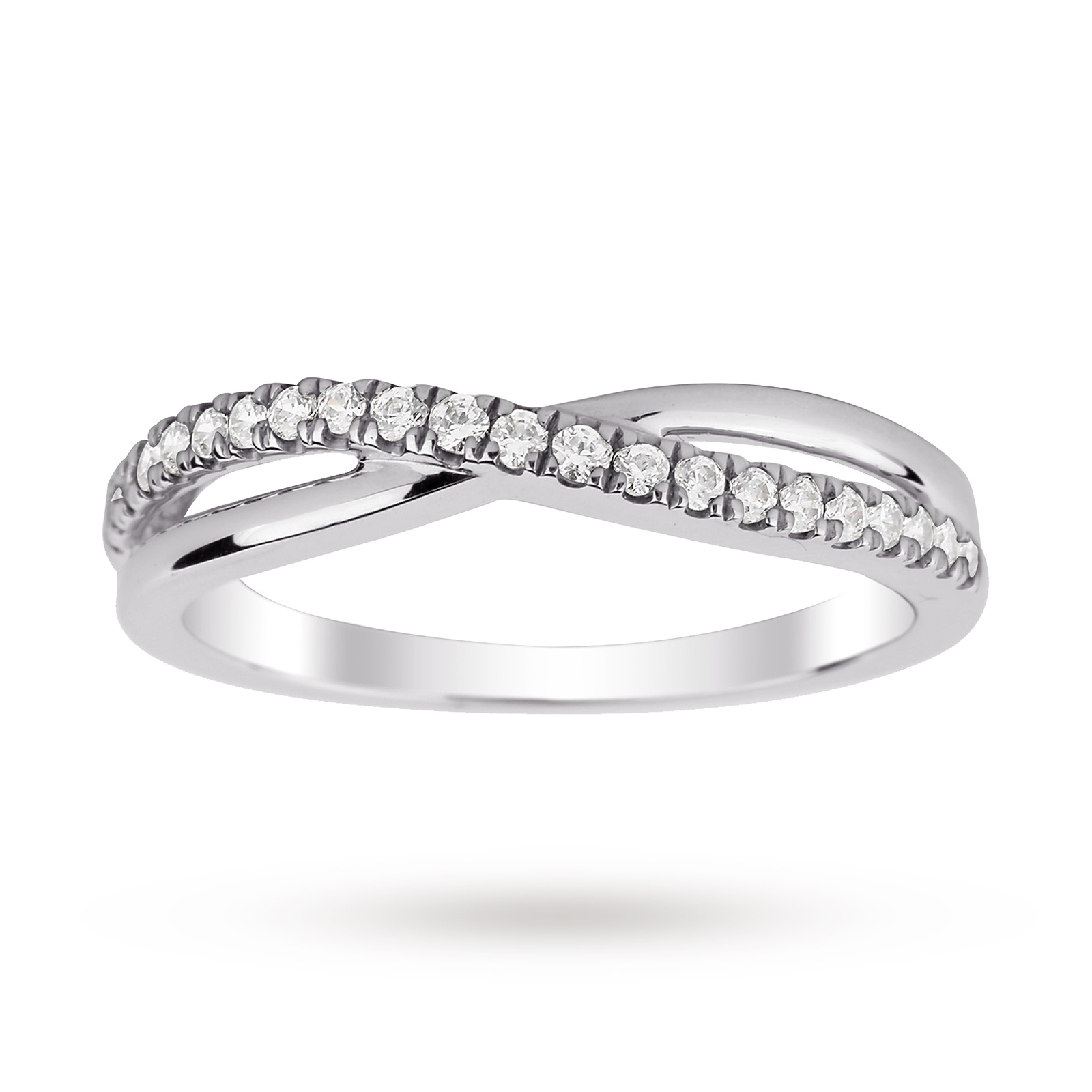 Platinum 0.25 Total Carat Weight Diamond Wedding Band