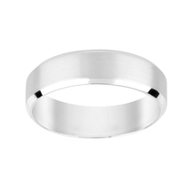 Platinum Brushed 6mm Gents Wedding Ring