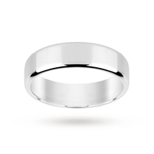 Platinum 5mm Softened Flat Gents Court Wedding Ring