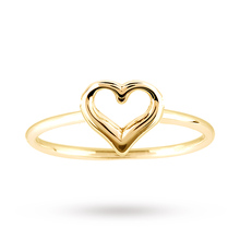 9 Carat Italian Yellow Gold Heart Ring