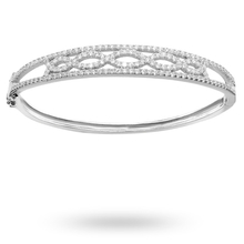 Silver Cubic Zirconia Infinity Bangle