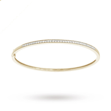 9ct Yellow Gold 0.50ct Diamond Bangle
