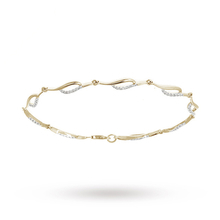9ct Yellow Gold 0.33ct Diamond Bracelet