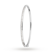18ct White Gold 1.00cttw Diamond Set Bangle