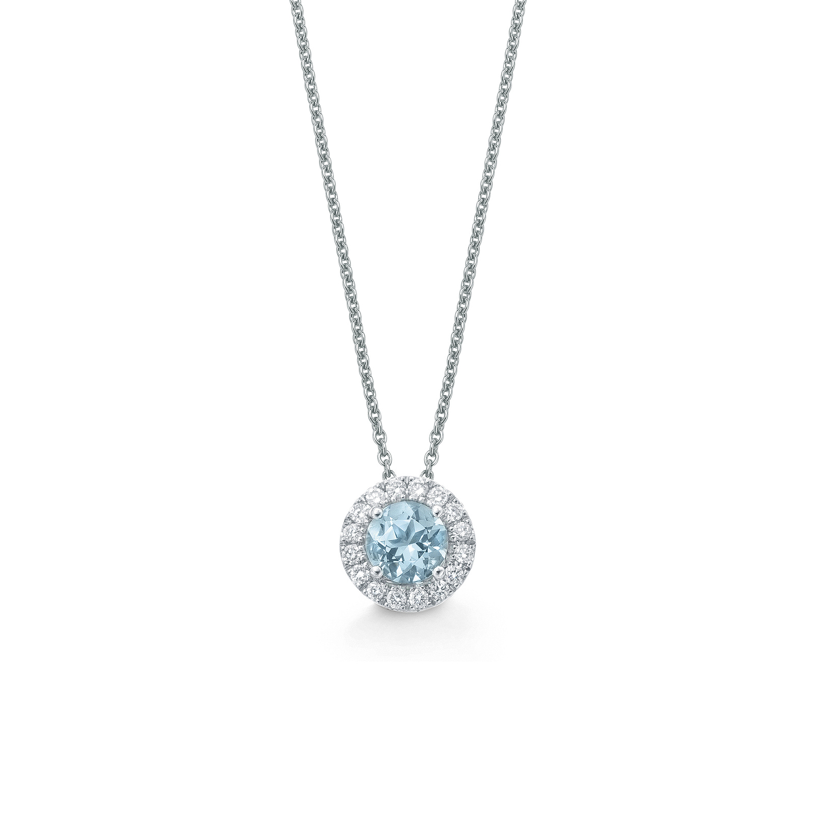 Carrington Ella Aquamarine and Diamond Pendant