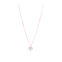 9ct Rose Gold 0.20ct Diamond Flower Pendant