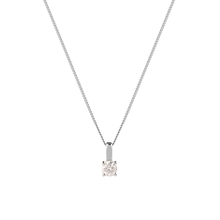 18ct White Gold 0.50ct Brilliant Cut Pendant