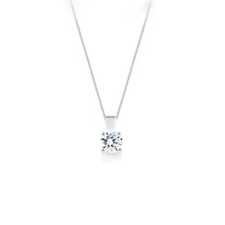 Libretto 18ct White Gold 0.90ct Diamond Pendant