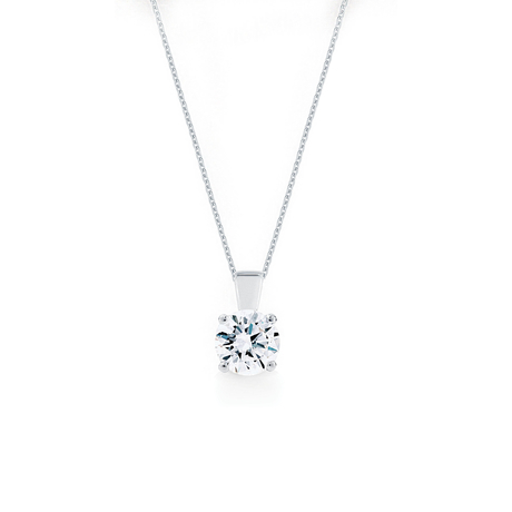 Libretto 18ct White Gold 1.50ct Diamond Pendant