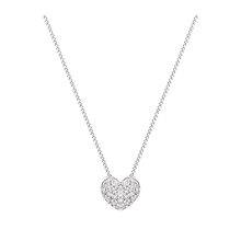 9 Carat White Gold 0.15 Carat Diamond Pave Heart Pendant
