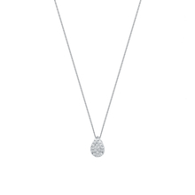 9 Carat White Gold 0.25 Carat Total Weight Pear Cluster Pendant