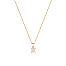 9ct Yellow Gold 0.25ct Princess Cut Diamond Pendant