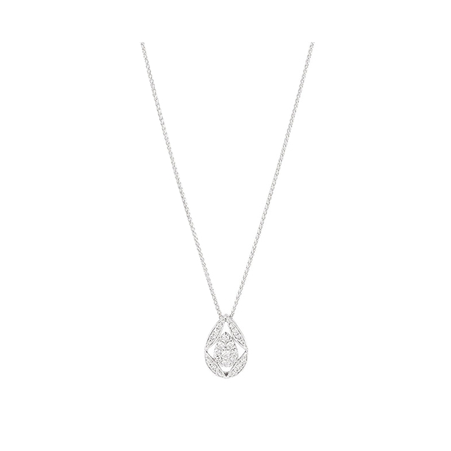 18ct White Gold 0.33ct Diamond Vintage Pear Pendant