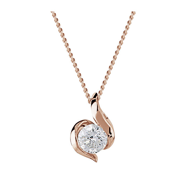 9 Carat Gold 0.25ct Wrapped In Love Diamond Pendant